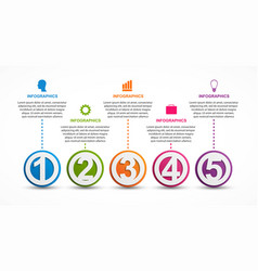 infographics template with numbers option for vector image