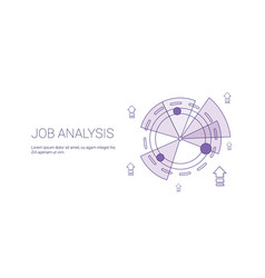 Job analysis business template web banner with vector