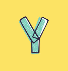 Kid style letter y logo hand-drawn with a marker vector