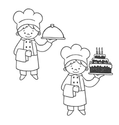 Kitchen and confectioner vector