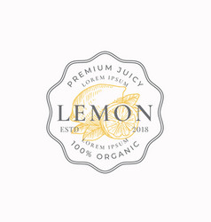 lemon badge or logo template hand drawn lemons vector image
