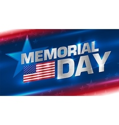 lettering memorial day on background vector image
