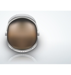 Light Background Astronaut helmet with reflection vector