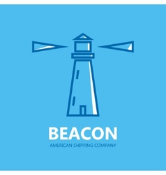 Lighthouse design logo vector image
