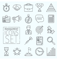 Line icons management vector image