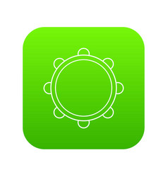little drums icon green vector image
