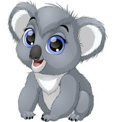 Little funny bear koala vector