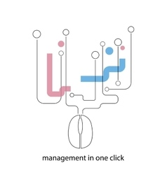 Management in one click vector image