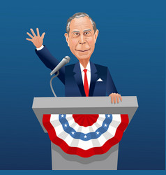michael bloomberg caricature vector image