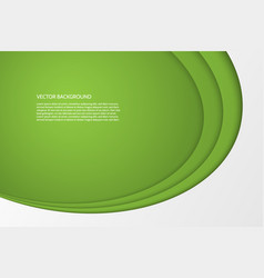 modern simple oval green and white background vector image