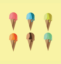 objects of ice cream vector image