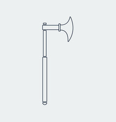 outline old cold weapon icon vector image