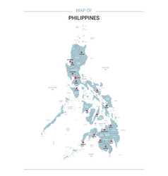 Philippines map with red pin vector