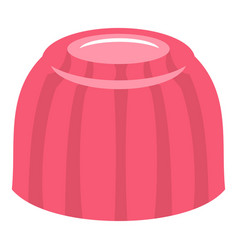 Pink fruit jelly icon isolated vector