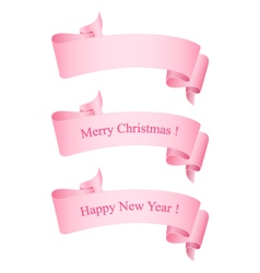 Pink Ribbons Isolated on White vector