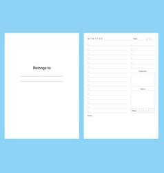 planner kit template pages to do vector image