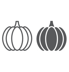 pumpkin line and glyph icon vegetable vector image