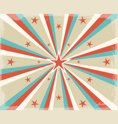 retro circus radial rays background vector image
