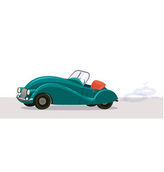 Retro convertible car vector
