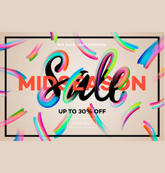 sale banner template midseason sale vector image