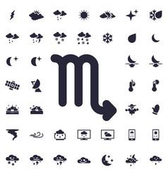 Scorpio zodiak icon vector