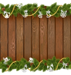 Seamless Christmas Board with Paper Decorations vector image