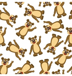 Seamless Funny Cartoon Bear vector
