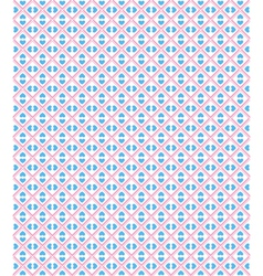 seamless love pattern blue hearts and pink dots vector image