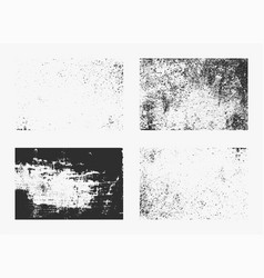 Set monochrome abstract grunge textures vector