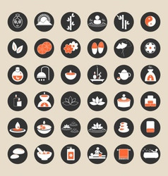 Set of spa and massage icons vector image