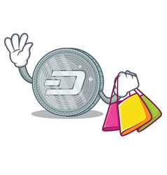Shopping dash coin character cartoon vector