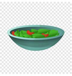 spinach salad icon cartoon style vector image