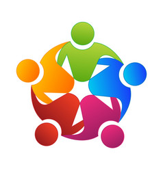 teamwork group planning and creating icon vector image