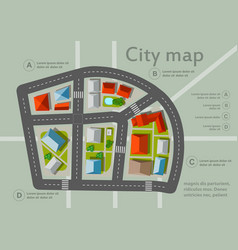 Top view city map vector