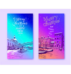trendy cover template italy venice vector image