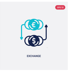 Two color exchange icon from digital economy vector