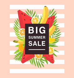 Vertical poster on big summer sale theme bright vector