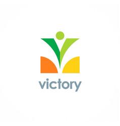 victory swoosh logo vector image
