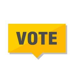 Vote price tag vector