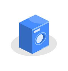 washing machine isometric icon on a white vector image