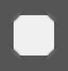 White blank square photo frame inserted into vector