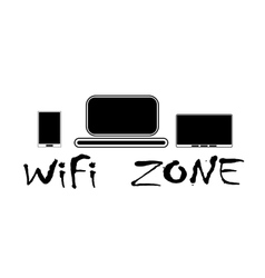 WiFi zone and devices vector