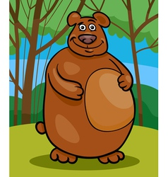 wild bear cartoon vector image