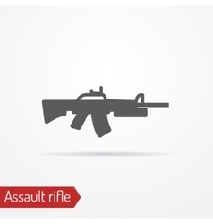 Assault rifle icon vector image vector image