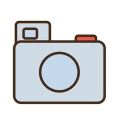 cartoon photo camera picture image icon vector image