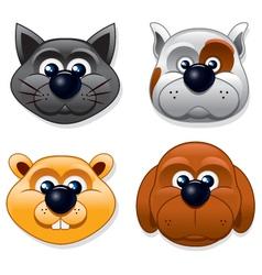Domestic Pet Masks vector image vector image