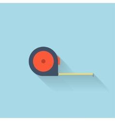 Flat web icon Length ruler vector image