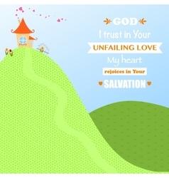 God Jesus Christ Background Design Cartoon Worship vector image vector image