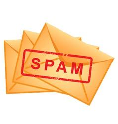 icon envelopes inscription spam vector vector image