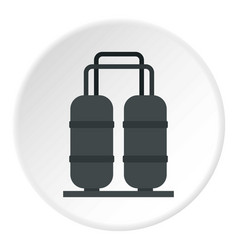 Oil processing factory icon circle vector